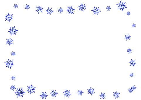 Simple snow crystal card 1