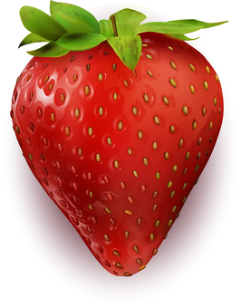 Real and delicious strawberries