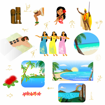 Hawaiian material 2 tourism landscape