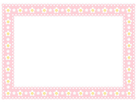 Cherry blossom pattern lace frame 4