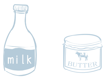 Milk and butter