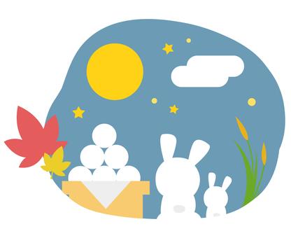 토끼와 달과 경단