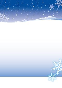 Snowscape 1 Winter frame