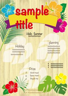 Summer event background hibiscus
