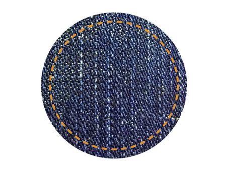 Denim style plate (circle)