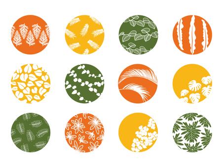 Round material set-plants