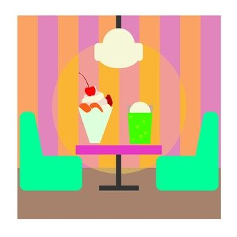 Parfait and float · coffee shop