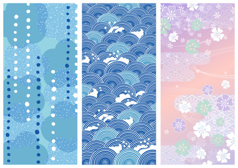 Japanese pattern material 002 background set