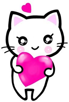 Valentine cat cat feline heart