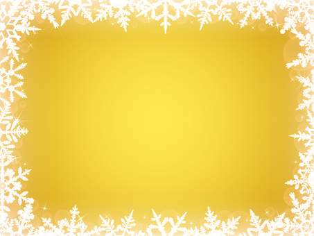 Winter background · snowflakes frame yellow