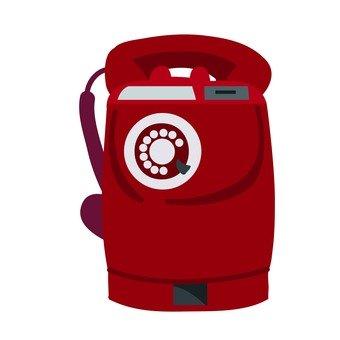 Retro public phone (red)