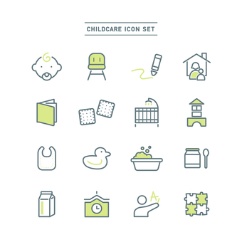 CHILDCARE ICON SET