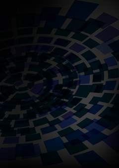 Dark tone black concentric circle background material