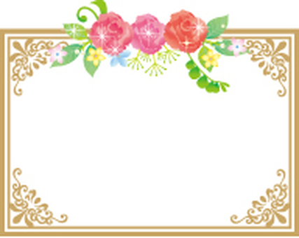 Carnation and flower card