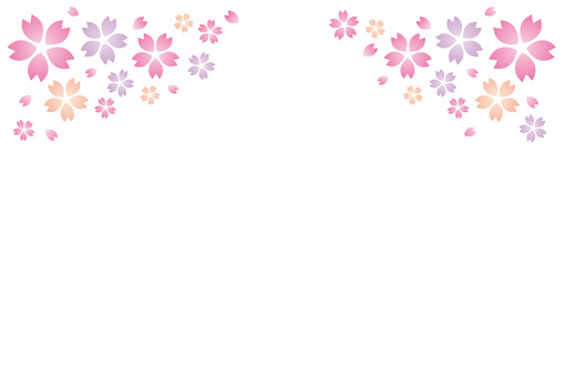 Background picture of cherry blossoms in spring ☆ Decorative pattern ☆