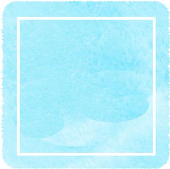 수채화 프레임 사각형 블루