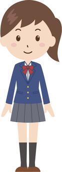 Girls | High School Students | Uniform | Standing