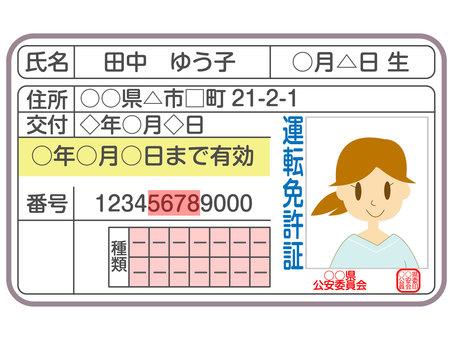 Driver's license woman