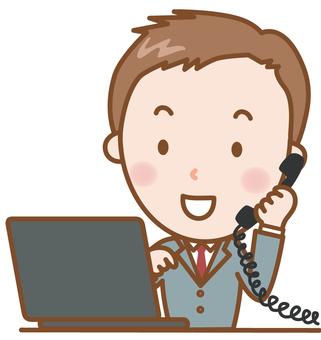 商人:電話+電腦