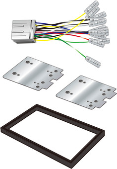 Car audio / navigation installation kit