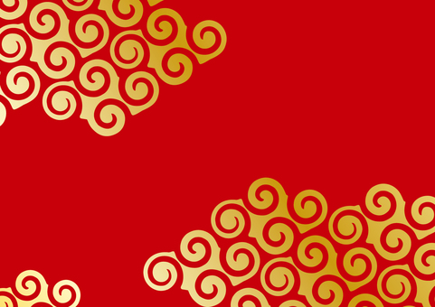 Background _ vortex cloud _ golden red