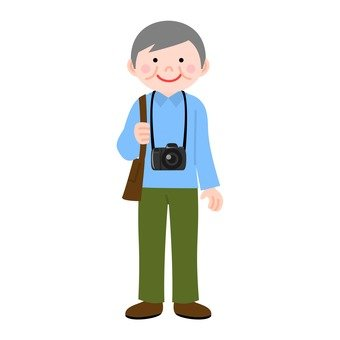 Male with camera (grandpa)