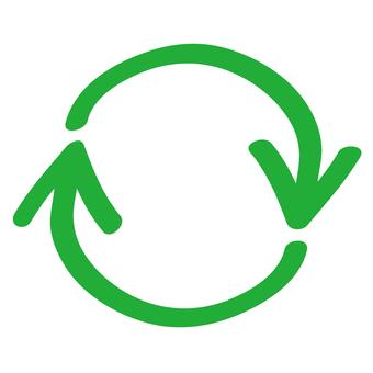 Recycle arrow green