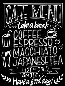 Cafe-like blackboard 2 black
