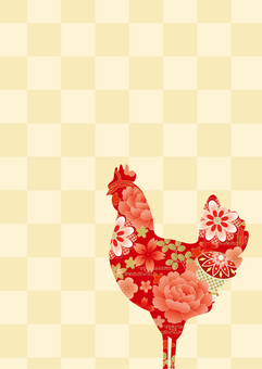 Chicken silhouette New Year's card