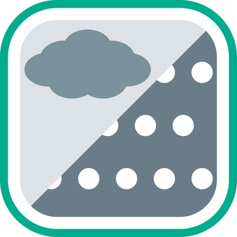 Weather icon Cloudy later snow