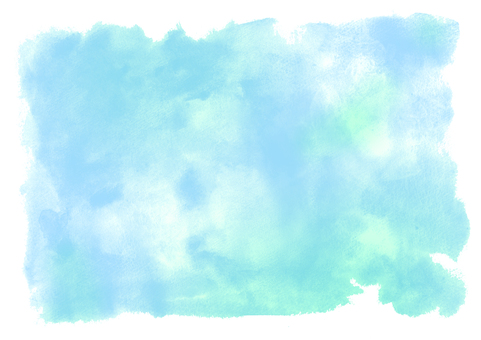 수채화 소재 블루