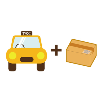 Image of taxi (mixed with passengers)