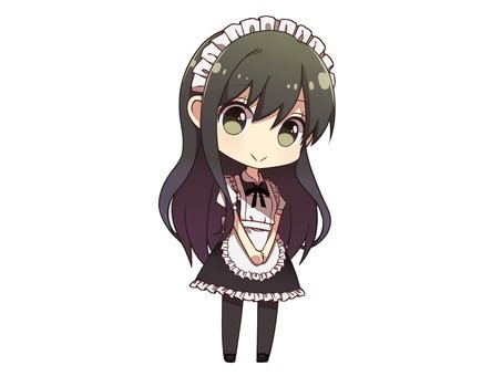 Long hair maid