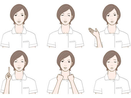 Working lady (nurse / short hair)