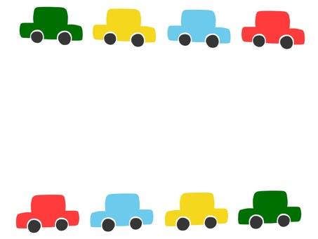 Car Frame Colorful Vehicle