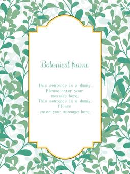 Botanical frame 01 / green b