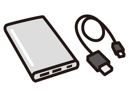 Mobile battery usb cable