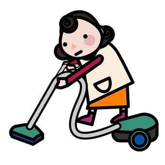 Mother cleaning