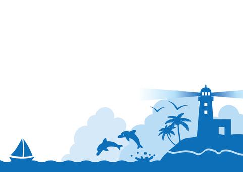 바다의 배경 소재