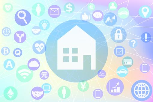 집 아이콘과 연결되는 다양한 서비스
