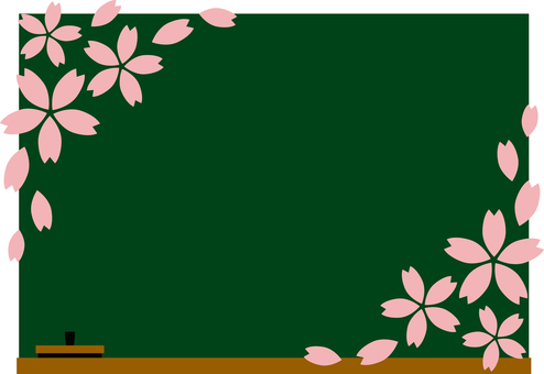 Blackboard frame (with cherry blossoms)