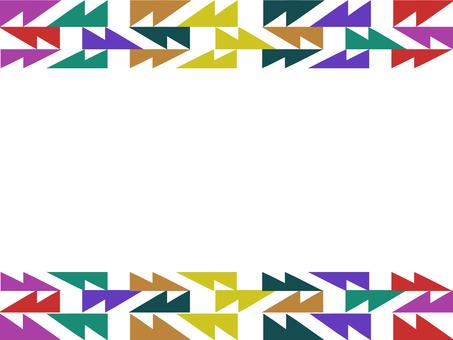 Ethnic style frame
