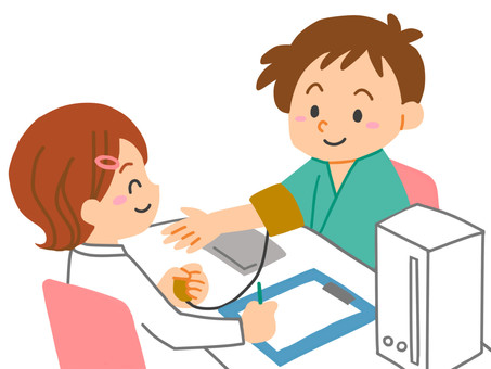 Health checkup blood pressure measurement
