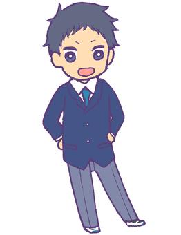 Boys student 2 (blazer · winter clothes)