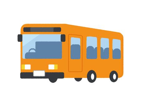 Bus Vehicle Vehicle Orange