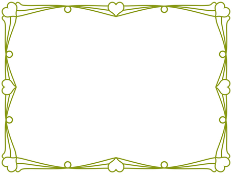 Heart frame simple decorative frame material illustration