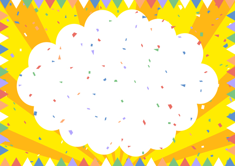 Confetti Concentrated line Balloon Flag frame