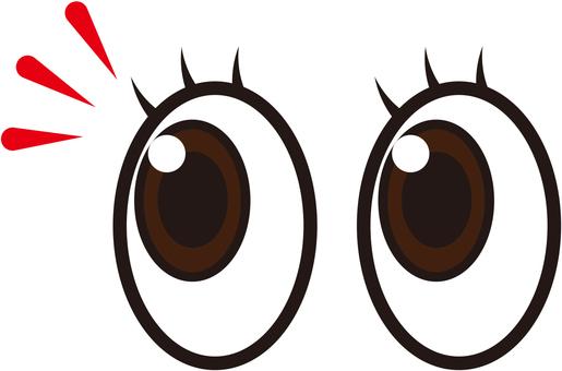 目シルエット イラストの無料ダウンロードサイトシルエットac