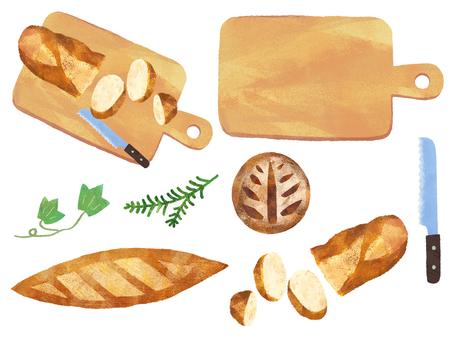 Bread and Cutting Board