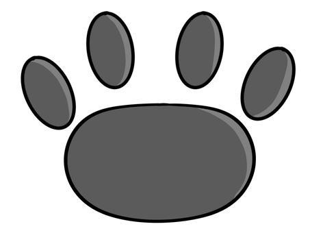Cat paws (black